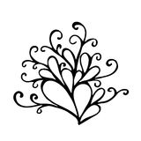 Calligraphic design element, vintage pattern Royalty Free Stock Photo