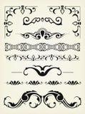 Calligraphic design elements Stock Images
