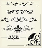 Calligraphic design elements Royalty Free Stock Photos