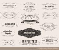 Calligraphic design elements.  Stock Images