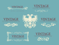 Calligraphic design elements. Baroque vintage set Stock Images