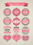 Calligraphic Design Elements birthday Stock Photo