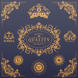 Calligraphic design elements collection Royalty Free Stock Images