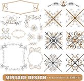 Calligraphic design elements decoration Royalty Free Stock Photography