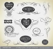 Calligraphic design elements and decoration. Calligraphic design elements and page decoration, card for invitation/ vector set Royalty Free Stock Photography