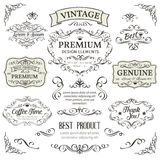 Calligraphic Design Elements . Royalty Free Stock Image