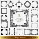Calligraphic design elements for design Stock Images