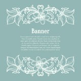 Calligraphic design elements. Floral vector design Royalty Free Stock Photos
