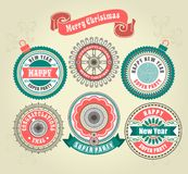 Calligraphic Design Elements of Merry Christmas Royalty Free Stock Image
