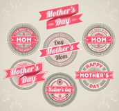 Calligraphic Design Elements mothers day royalty free illustration