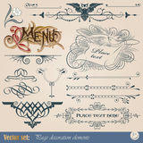 Calligraphic design elements and page decoration. Vector set: calligraphic design elements and page decoration Stock Images