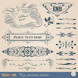 Calligraphic design elements and page decoration. Vector set: calligraphic design elements and page decoration Stock Photos