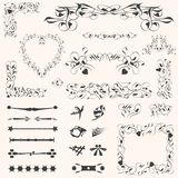 Calligraphic design elements page decoration Royalty Free Stock Image