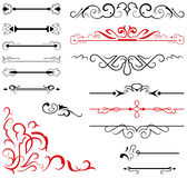 Calligraphic design elements and page decoration - Stock Photography