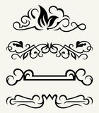 Calligraphic design elements and page decoration - Stock Images