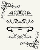 Calligraphic design elements and page decoration - Royalty Free Stock Images