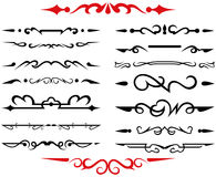 Calligraphic design elements and page decoration - Stock Image