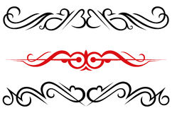 Calligraphic design elements and page decoration - Royalty Free Stock Image