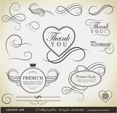 Calligraphic design elements and page decoration Stock Photography