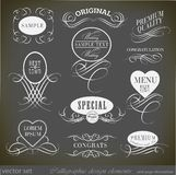 Calligraphic design elements and page decoration Stock Image