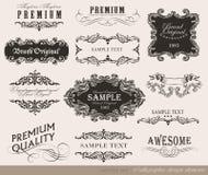 Calligraphic design elements, page decoration Stock Photos