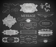 Calligraphic design elements, page decoration Stock Photos