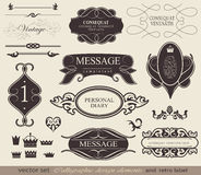 Calligraphic design elements Royalty Free Stock Photo
