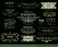 Calligraphic design elements. And page decoration/  set Stock Image