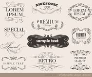 Calligraphic design elements. And page decoration/  set Stock Images