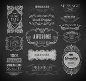 Calligraphic design elements. And page decoration/  set Royalty Free Stock Photography
