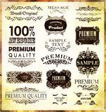 Calligraphic design elements. And page decoration/  set Royalty Free Stock Images