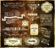 Calligraphic design elements. And page decoration/  set Stock Photography