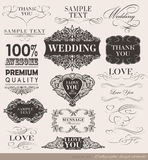 Calligraphic design elements. And page decoration/  set Stock Photo
