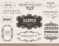 Calligraphic design elements Stock Image