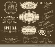 Calligraphic design elements. And page decoration/  set Stock Photos