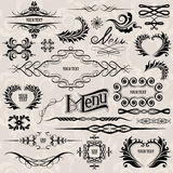 Calligraphic design elements. And page decoration set.  from background Royalty Free Stock Image