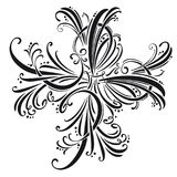 Calligraphic design elements and page decoration.  set.  Stock Images