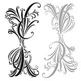Calligraphic design elements and page decoration.  set.  Stock Image