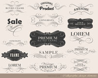 Calligraphic design elements. And page decoration/ vector set Stock Image