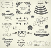 Calligraphic design elements Stock Photos