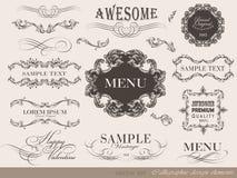 Calligraphic design elements Stock Photo