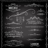Calligraphic design elements and page decoration - vector set Royalty Free Stock Photography