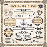 Calligraphic design elements and page decoration. Vintage ornaments and frame, calligraphic design elements and page decoration Stock Photos