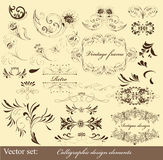 Calligraphic design elements and page decorations Stock Photo