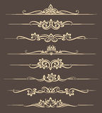 Calligraphic design elements, page dividers with thai ornament. Divider ornament page, ornate vector illustration Stock Photos