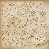 Calligraphic design elements Set. EPS 10 Royalty Free Stock Photo