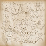 Calligraphic design elements Set. EPS 10 Stock Photo