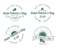 Calligraphic Design Elements St. Patrick's Day Royalty Free Stock Photo