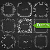 Calligraphic design elements template Royalty Free Stock Photo