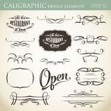 Calligraphic design elements to embellish your layout Royalty Free Stock Photography